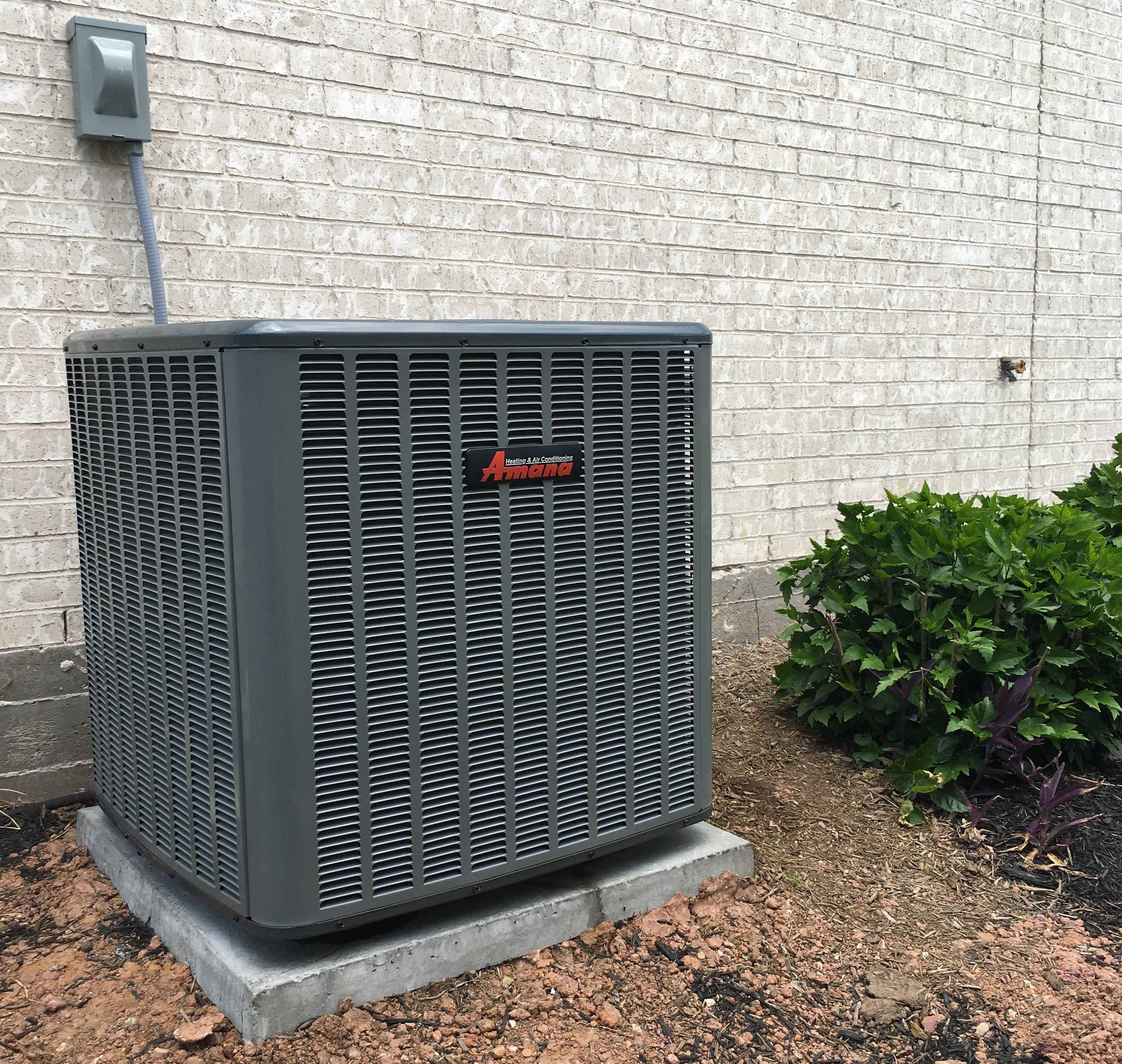 Installation of Amana 16 SEER Electric Central Air & Heating System